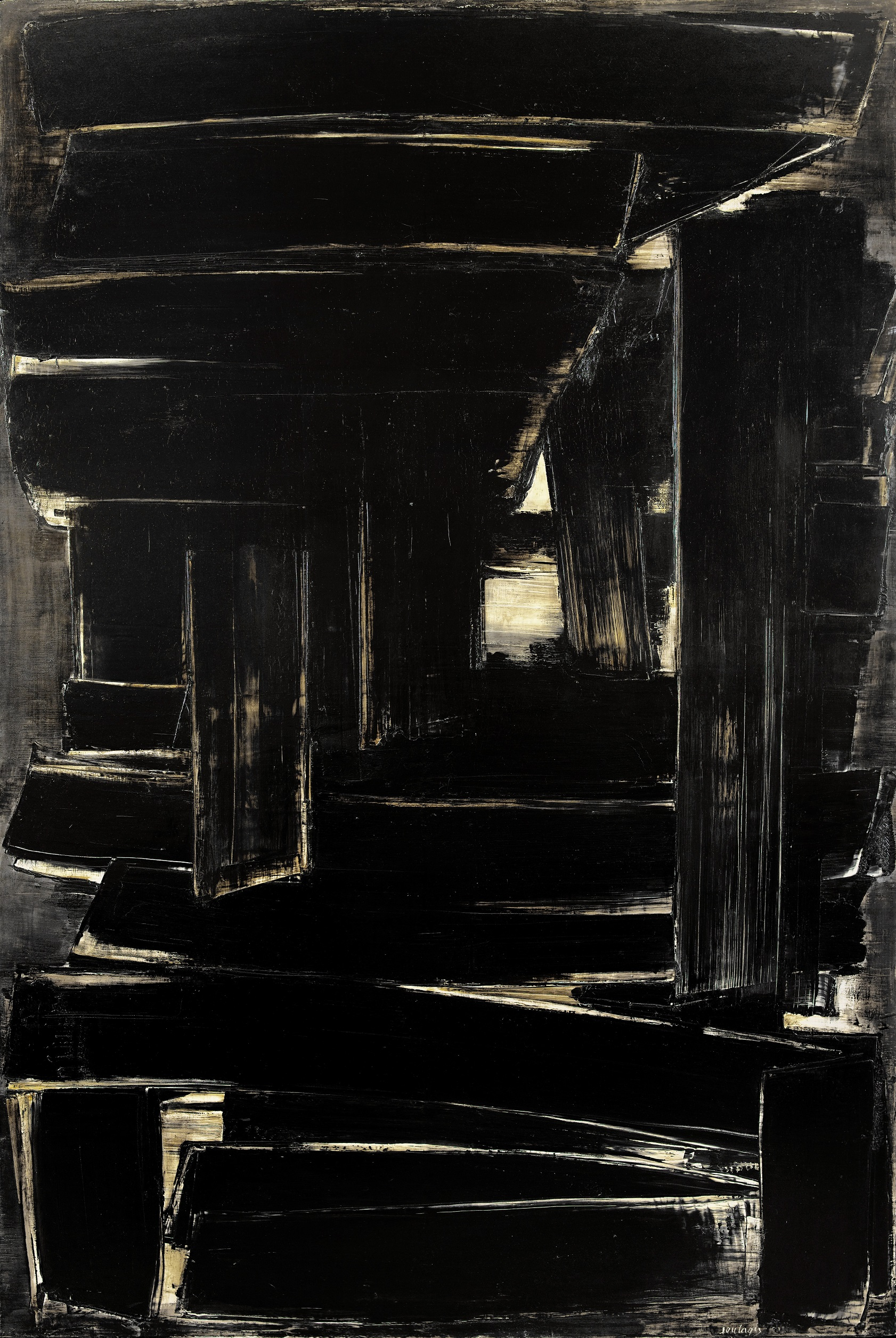 Pierre SOULAGES (1919 ) Peinture 195 x 130 cm, 1er septembre 1957, 1957 Oil on canvas 195 x 130 cm