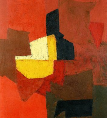 Serge Poliakoff Composition Dominante rouge